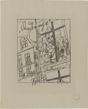 Lili von Braunbehrens, Stadtnacht (Titelblatt), 1921