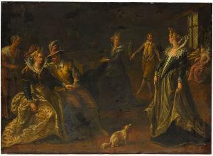Tanzende Gesellschaft, Ende 16. Jh. / Anfang 17. Jh.