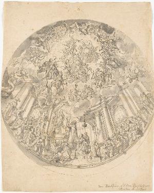 Maria in der Glorie (Entwurf für ein Kuppelfresko), um 1720-1730