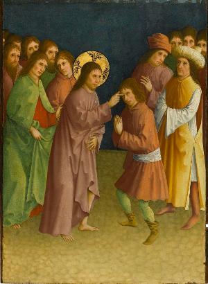 Christus heilt einen Blinden, um 1435