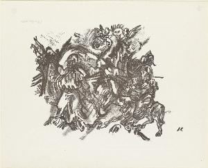 Biblische Szene (Blatt 28 in: Arno Holz zum sechzigsten Geburtstage), 1913 (1923)
