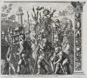 Die Harnischträger (Blatt 6 in: Der Triumphzug Caesars), 1692