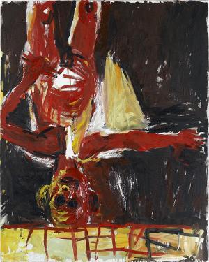Maler mit Segelschiff - Munch, 1982, 1982