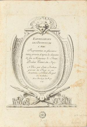 Ausdrücke der Leidenschaften der Seele, 1727