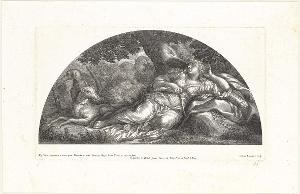 Die Ruhe Dianas (Die Fresken in Florenz), 1691
