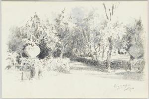 Im Park der Villa Borghese, 1894
