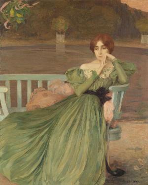 Dame im Garten, 1897