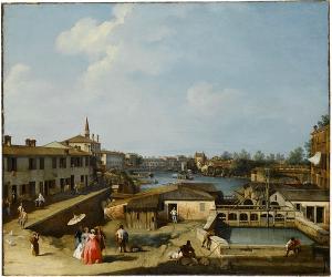Ansicht der Schleusen von Dolo an der Brenta, um 1732/35
