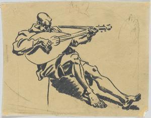 Lautenspieler, um 1919