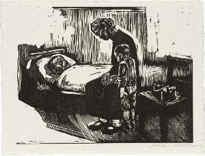 Besuch im Krankenhaus (Blatt 4 in: Die Schaffenden, 7. Jahrgang, 2. Mappe), 1929 (1930)