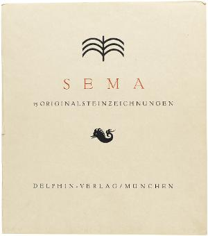 Sema. 15 Originalsteinzeichnungen (Titelblatt), 1912