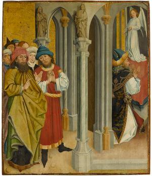 Zacharias im Tempel, um 1470