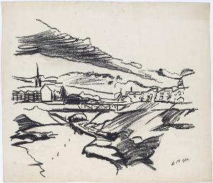 Landschaft mit Brücke, 1912