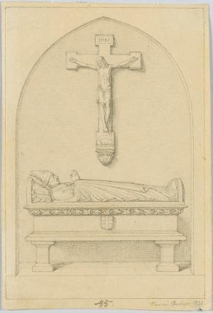 Studie zum Grabmal des Bischofs Georg Michael Wittmann (1760-1833) im Regensburger Dom, 1835
