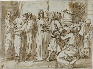 Christus und die Ehebrecherin, um 1610