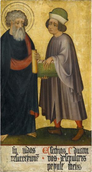 Sogenannter Ulmer Hochaltar: Judas Thaddäus und Ezechiel, um 1400