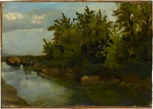 Bachlandschaft, um 1890