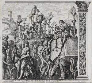 Die Elefanten (Blatt 5 in: Der Triumphzug Caesars), 1692