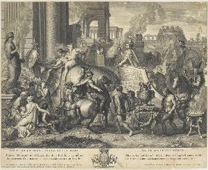 Alexander der Große zieht in Babylon ein, um 1703/08
