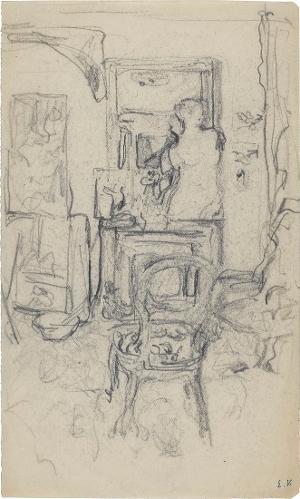 Atelier-Interieuer mit der Statue der Venus von Milo, um 1920