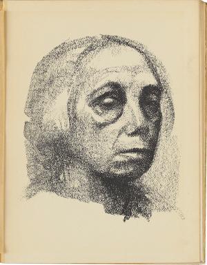 Kleines Selbstbildnis (Blatt 4 in: Kurt Pfister, Deutsche Graphiker der Gegenwart, Leipzig 1920), 1920