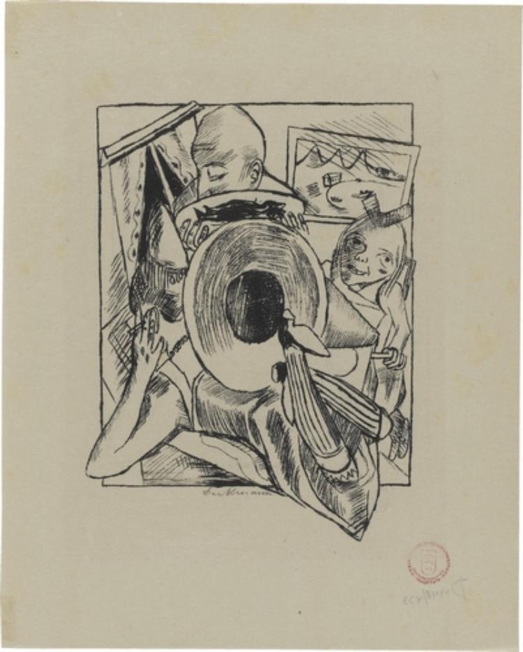 Lili von Braunbehrens, Stadtnacht, Blatt 5: Möbliert