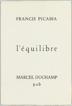 Francis Picabia, L'Équilibre (Das Gleichgewicht), Alès, PAB 1958, 1958
