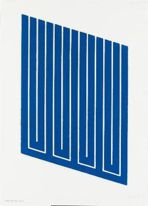 Parallelogramm blau gedruckt, 1961-63 / 1969