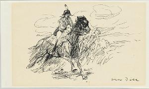Galoppierender Kavallerist, um 1930