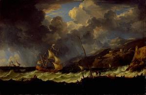 Hafenansicht bei Sturm, Zweite Hälfte 18. Jh.