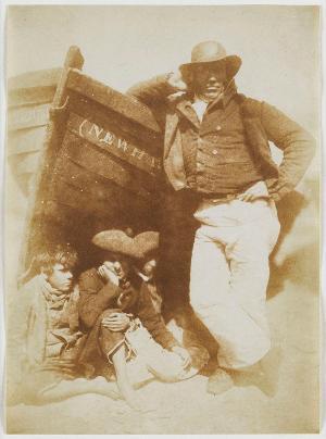 Sandy Linton, his Boat and his Bairns, ca. 1845