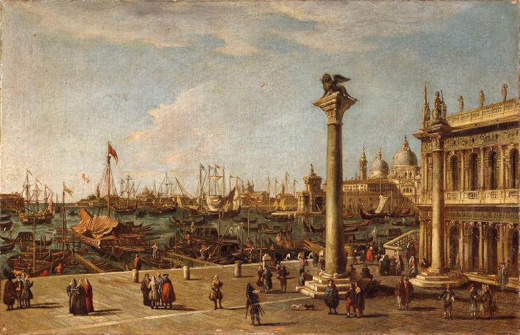 Vedute mit der Piazzetta und Blick auf die Dogana und S.Maria della Salute