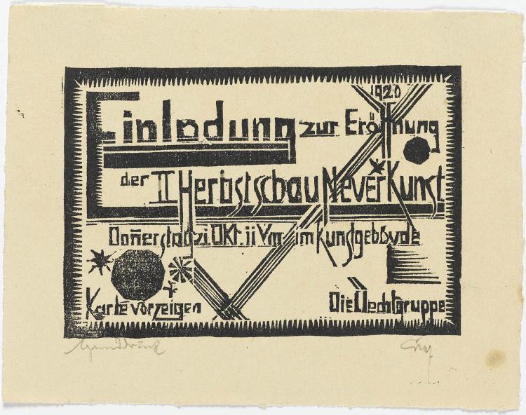 Einladungskarte: Üecht-Gruppe II Herbstschau Neuer Kunst