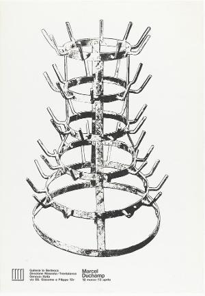Ausstellungsplakat: Marcel Duchamp, Galleria La Bertesca (Genova), 1967