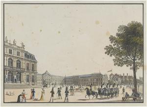 Das Neue Schloss in Stuttgart, um 1810