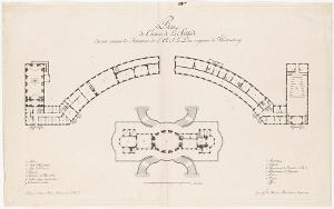 Grundriss von Schloss Solitude (Plan du Chateau de La Solitude) , 1785