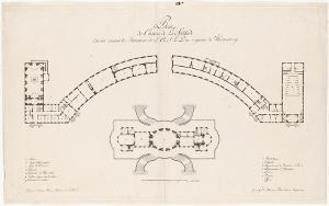 Plan of Solitude palace, 1785