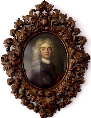 Porträt des Kapitänleutnants Johann Anton Hackbrett, 1702