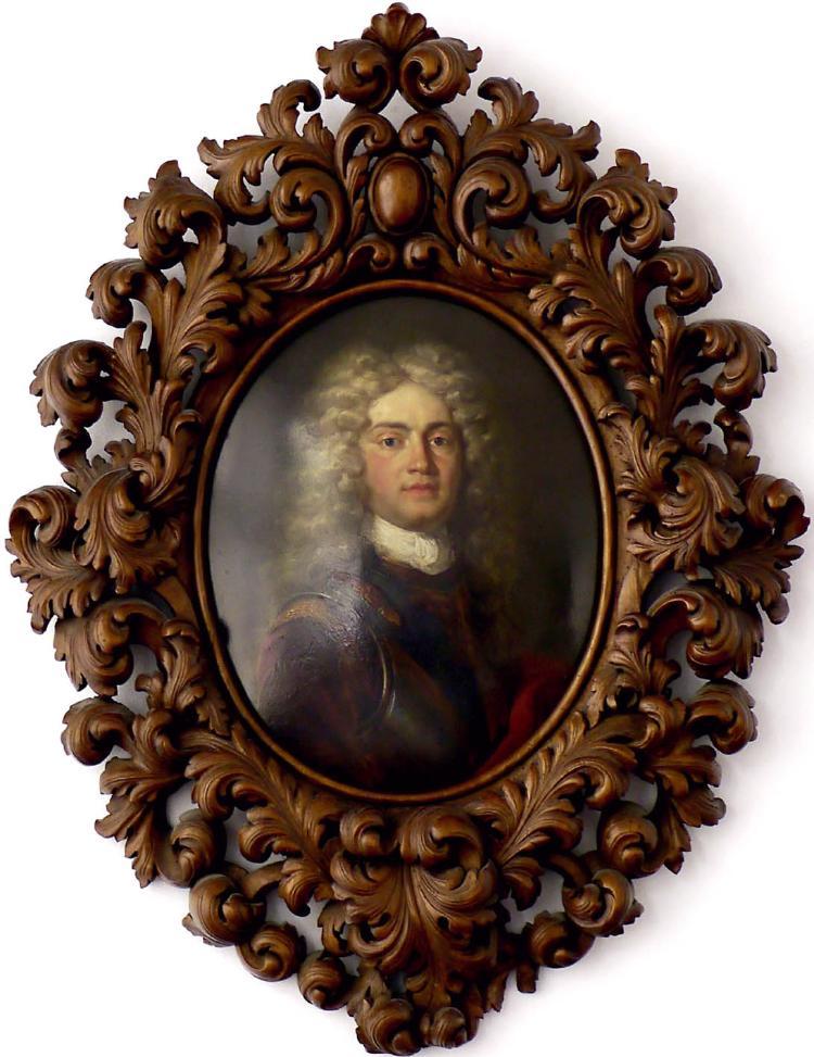 Porträt des Kapitänleutnants Johann Anton Hackbrett