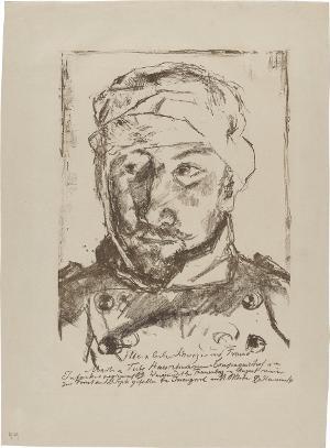 Bildnis des verwundeten Schwagers Martin Tube, 1914