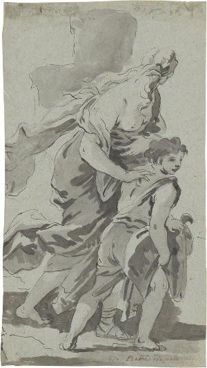 Verstoßung der Hagar (Tobias und der Engel?), um 1700