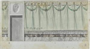Entwurf einer Wanddekoration, um 1805/10