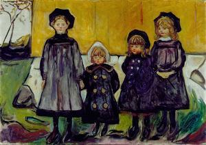 Vier Mädchen in Aasgaardstrand (Die vier Schwestern Bugge), 1902