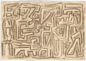 Gilgamesch, Blatt14: Enkidu zieht ein in die glänzende Halle des Königs, 1943