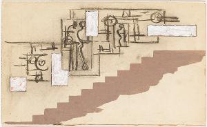 Entwurf zu einem Mauerbild an einer Treppenwand, 1930