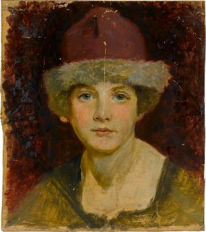 Mädchenkopf, Porträtstudie, nicht datiert