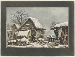 Schmiede im Winter, nicht datiert