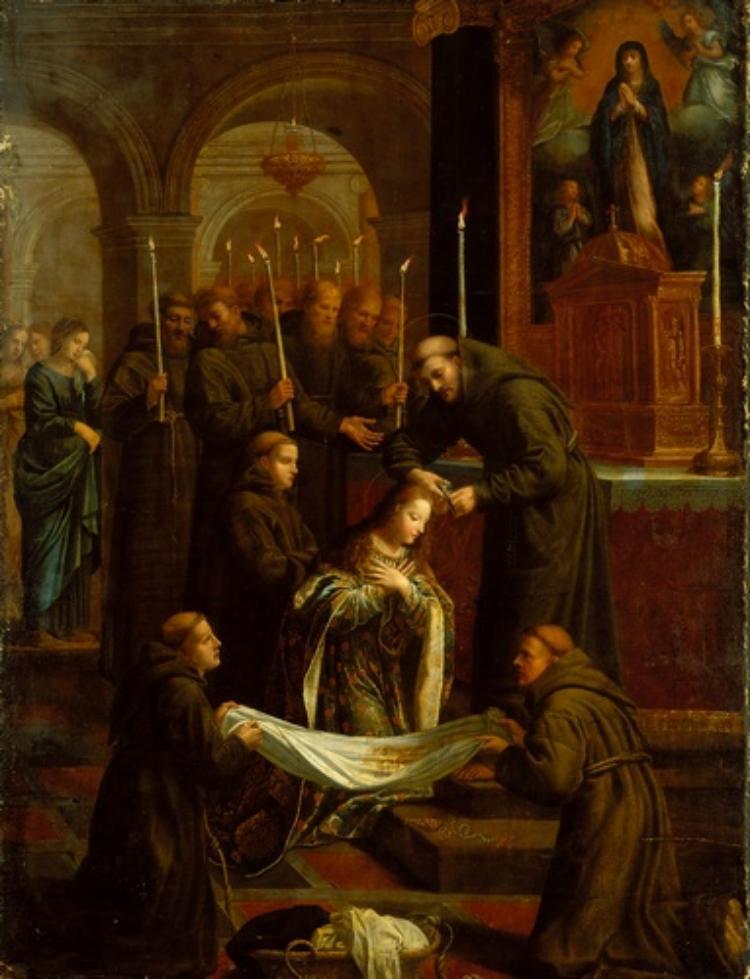 Die Einkleidung der heiligen Klara von Assisi