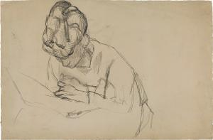 Femme assise inclinée (Geneigt sitzende Frau) , 1906
