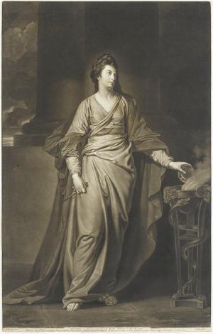 Mrs. Yates als tragische Muse, 1772